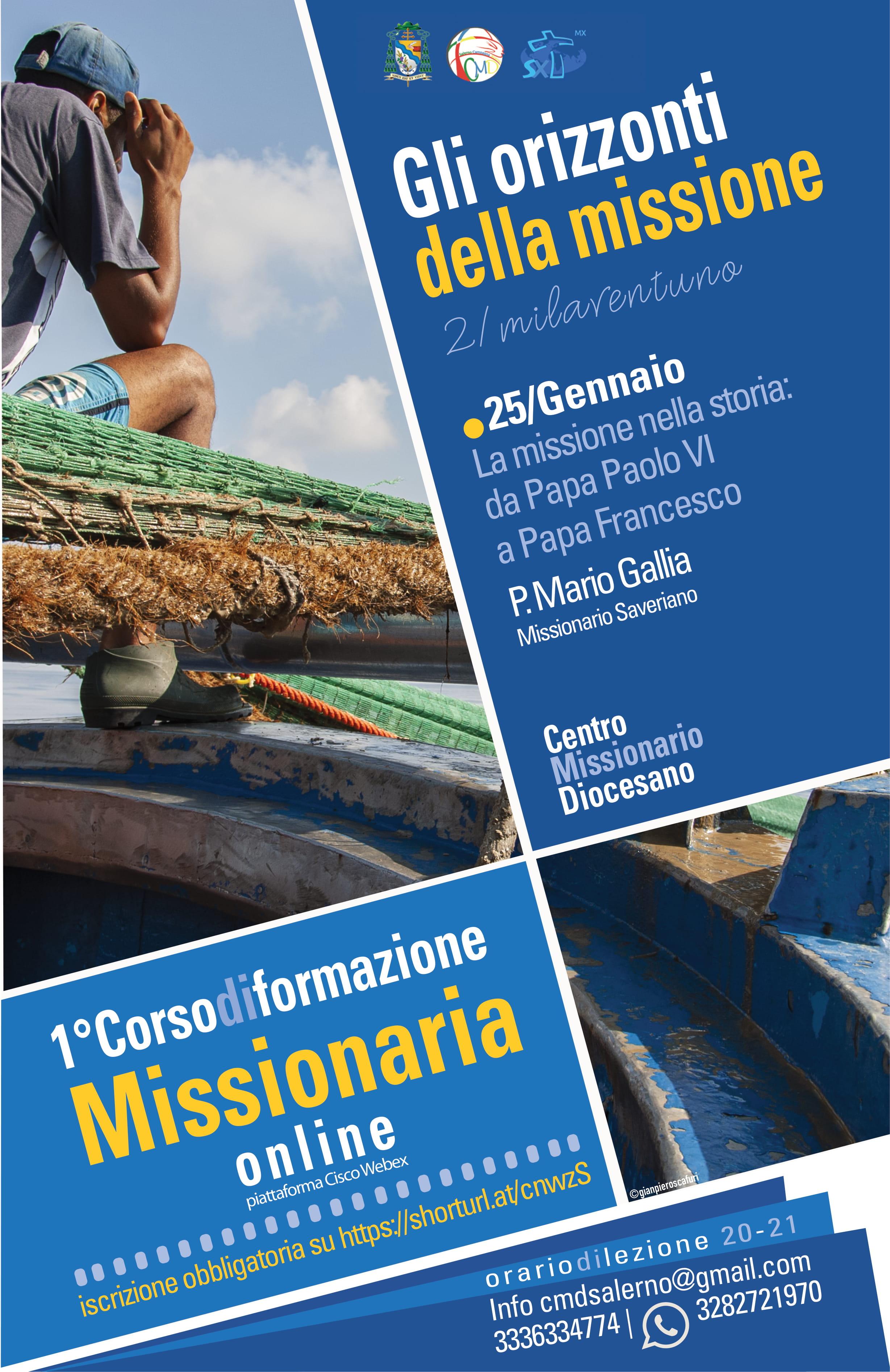 """Primo corso di formazione missionaria """"Gli orizzonti della missione"""" – 2° Lezione – 25 Gennaio"""