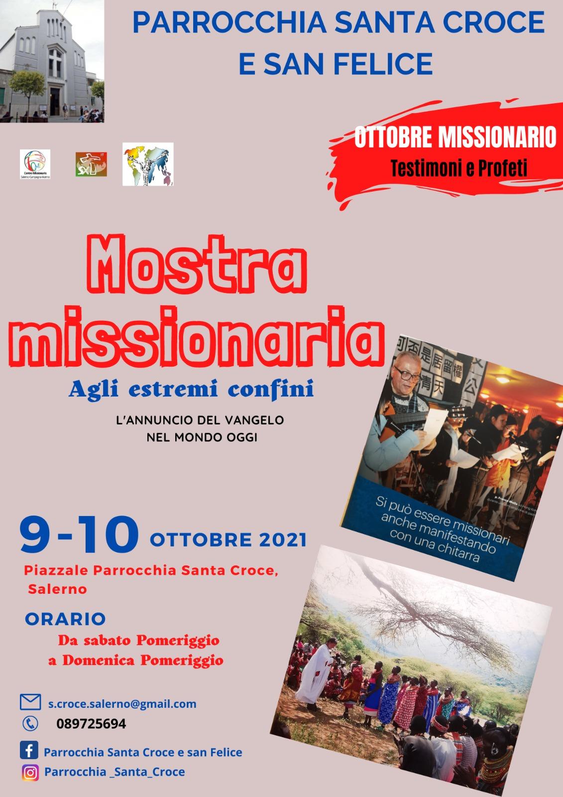 Mostra missionaria presso la parrocchia Santa Croce e San Felice